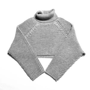 Sweaters - Knit cropped sweater